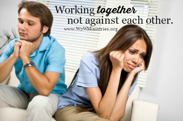 Working together, not against each other. #marriage