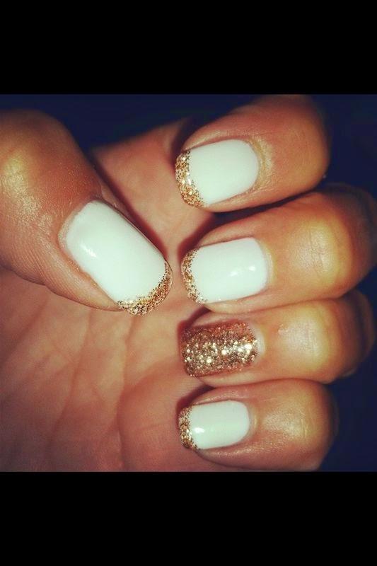 Unghie 64 bianche e oro unghie creative l arte di decorare le