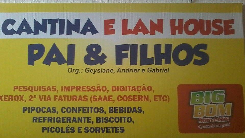 CANTINA E LAN HOUSE PAI E FILHOS
