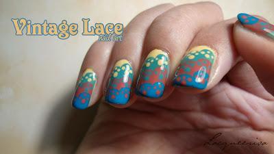 NOTD:Vintage Laces Nail Art