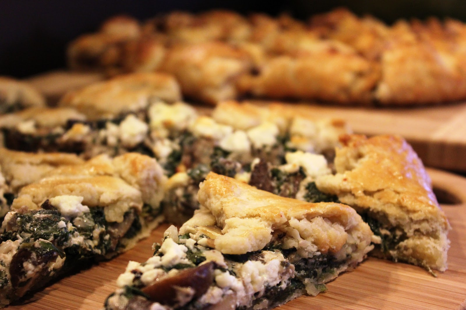 Kitchie Coo: Mushroom, Spinach & Goat Cheese Tart
