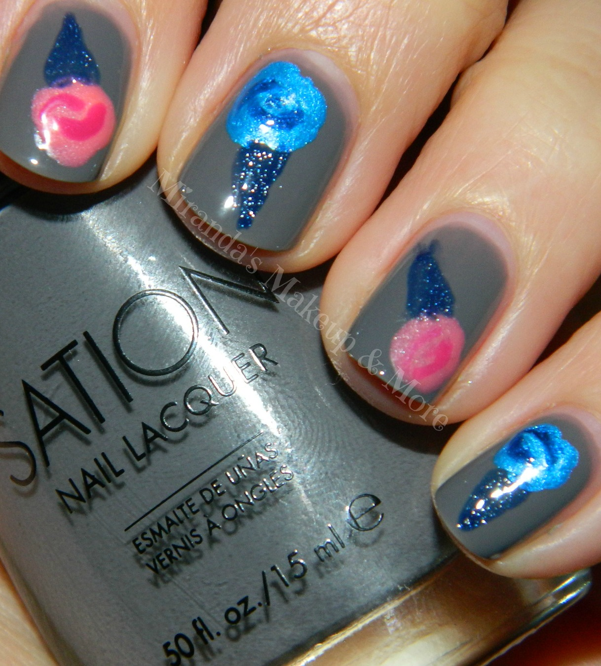 Cotton Candy Nail Polish Station: Mirandas Makeup: Cotton Candy Nails{Great For Beginners