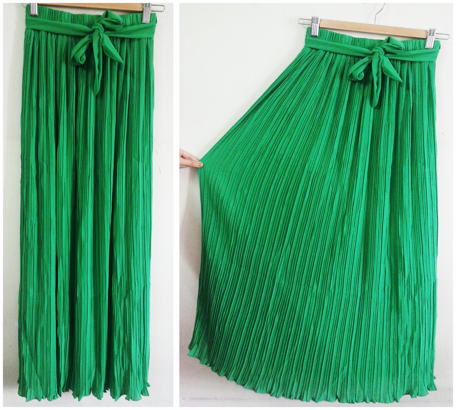 dyanhijab pleated maxi skirt