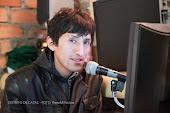 en estudios de Radio Antena Uno