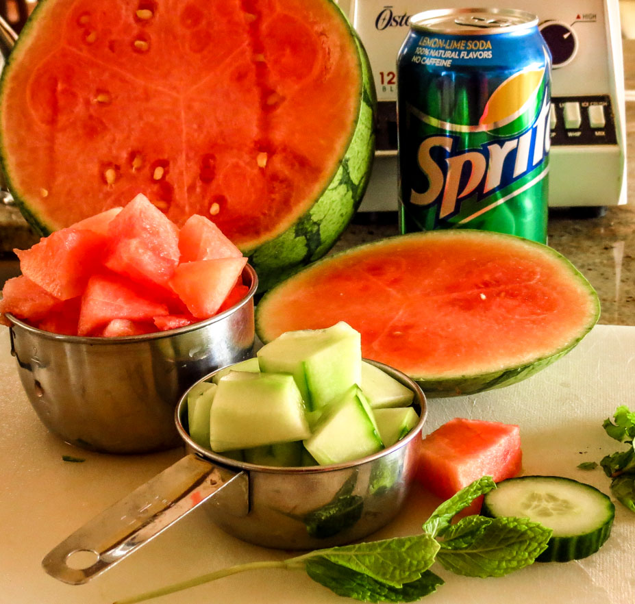 Photo: Cucumber Melon Refresher basic ingredients - in generous ...