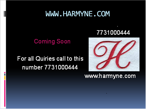 Harmyne coming