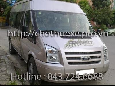 Cho thuê xe 16 chỗ đi du lịch Thung Nai , Hòa Bình