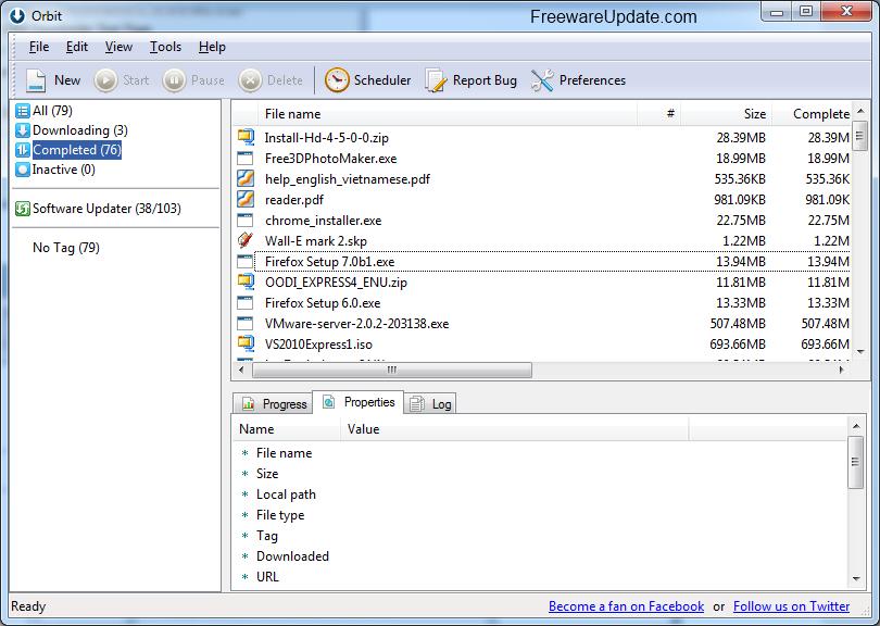 �������� ������� ������� Orbit Downloader 4.1 ���� �����