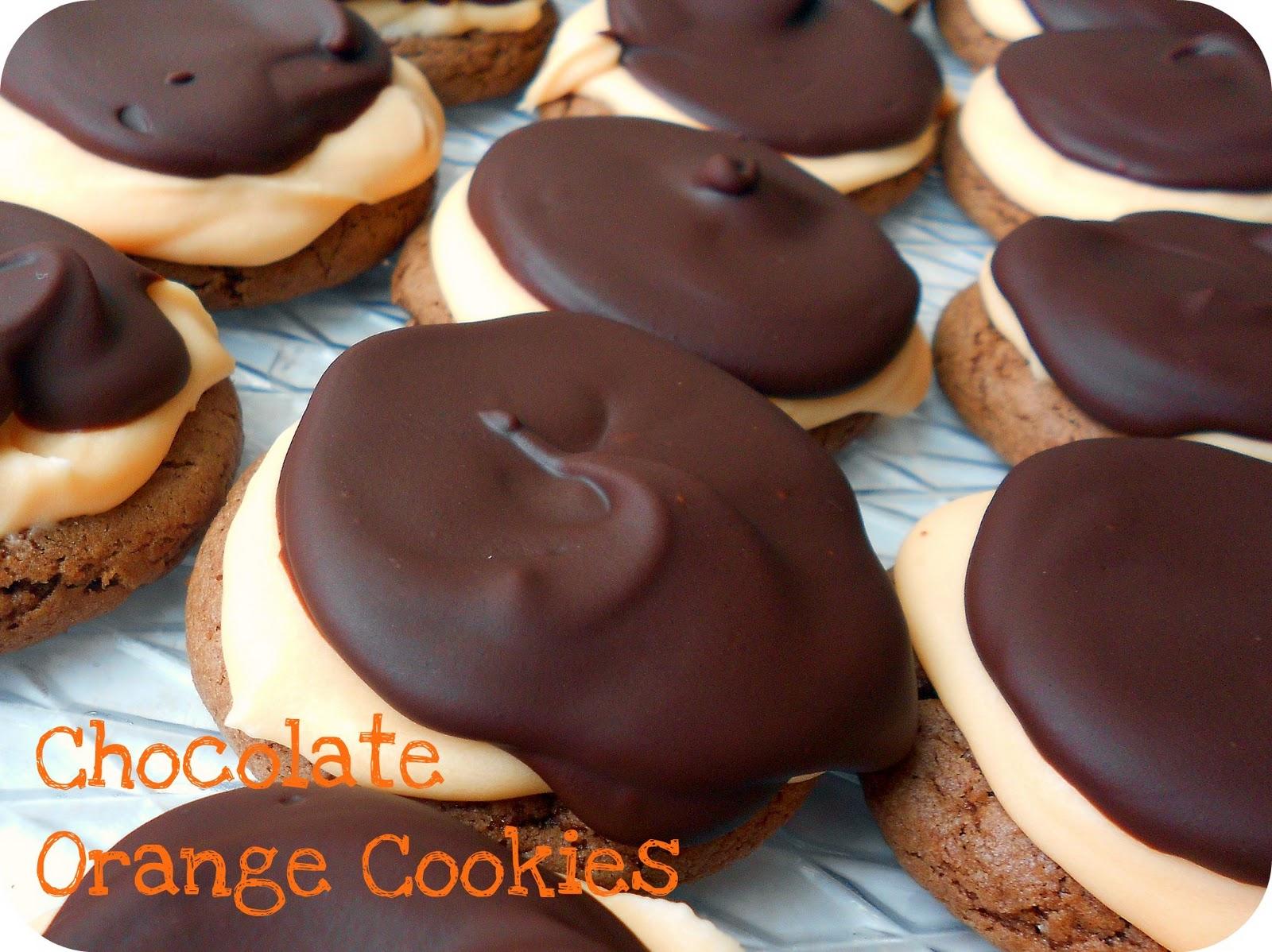 Chocolate Orange Cake Mix Cookies with Ganache Topping ...