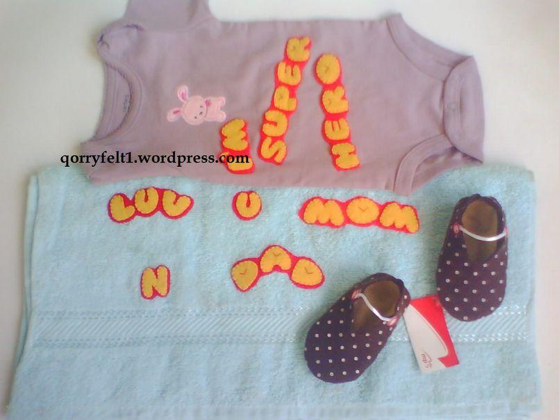 Baby t set, paket hadiah / kado untuk bayi berisi handuk nama, baju