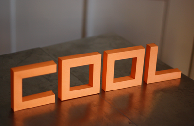 build 3d paper letters from a nifty font how about orange