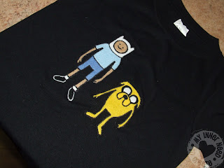 Adventure Time Applique T-shrit