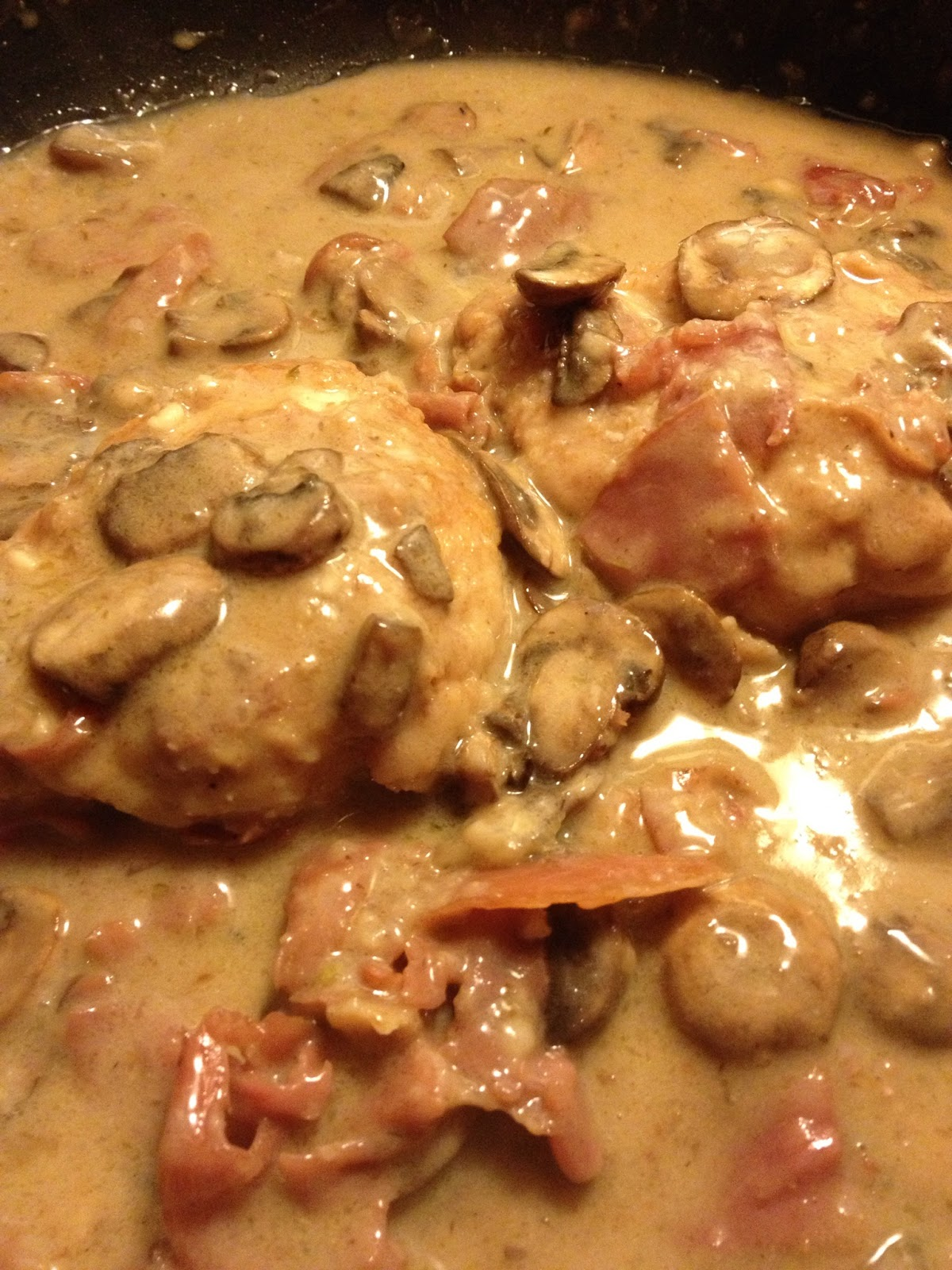 ... Kitchen & On the Run: Lite & Creamy Chicken Marsala with Prosciutto