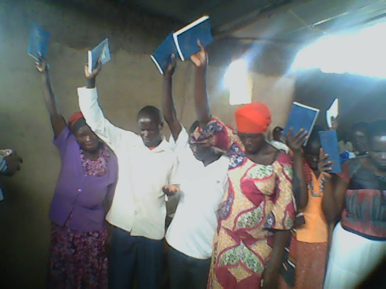 AFTER RECIEVING THE BIBLES THEY WERE THANKING GOD