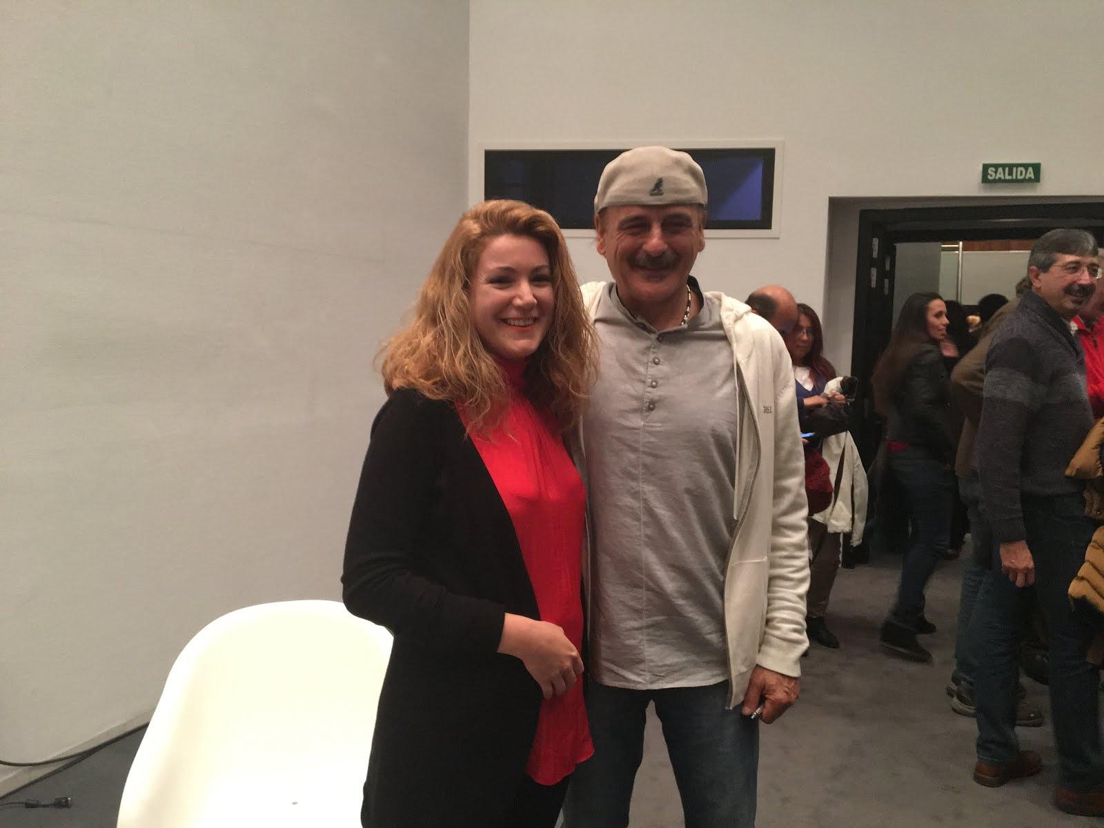 Con Emilio Fiel