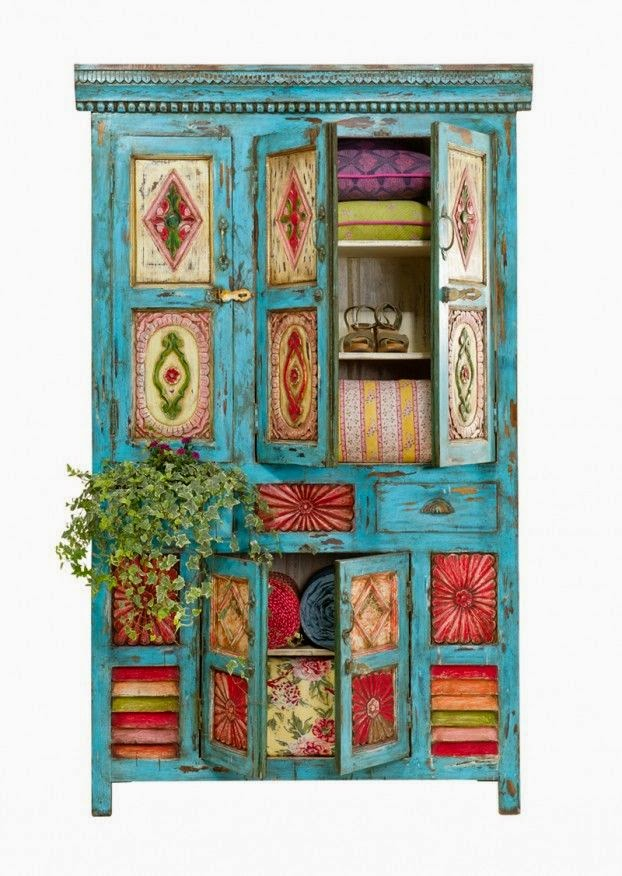 Indian Rustic Cabinet