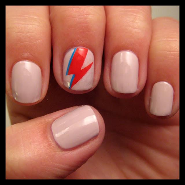bowie nail art