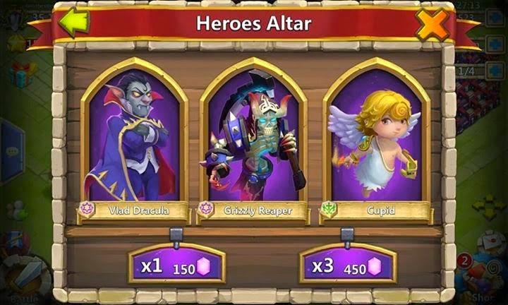 Trik mendapatkan hero legend konflik kastil