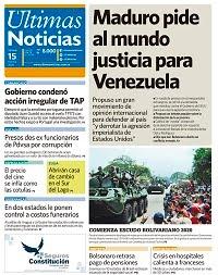 15/02/2020 PRIMERA PAGINA DE ULTIMAS NOTICIAS DE VENEZUELA