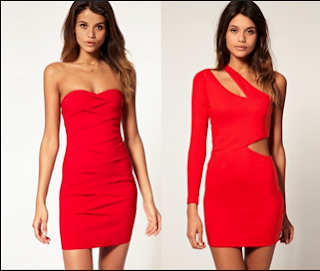 Vestido Rojo de NocheVieja 2012 juvenil escotado
