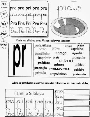 Atividades com PR,atividades para imprimir,PR,anos iniciais,alfabetização ,1º ano