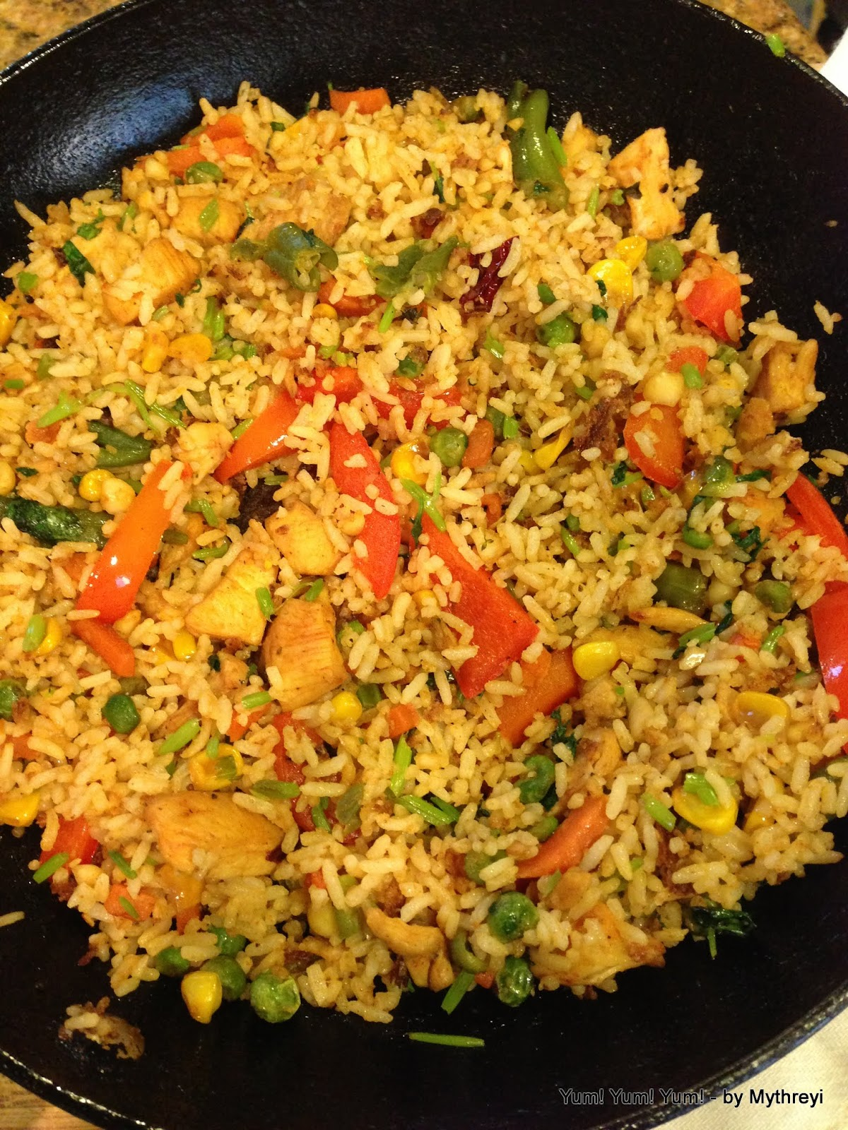 how to cook chicken fried rice in tamil