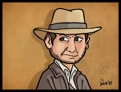 dibujo indiana jones