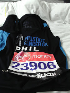 My race number For the London Marathon