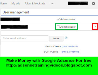 Google Adsense account me users ke Access level ko change kaise kare?