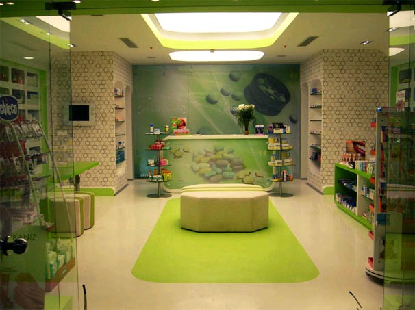 modern drug store design ideas with interior lighting - Storefront Design Ideas