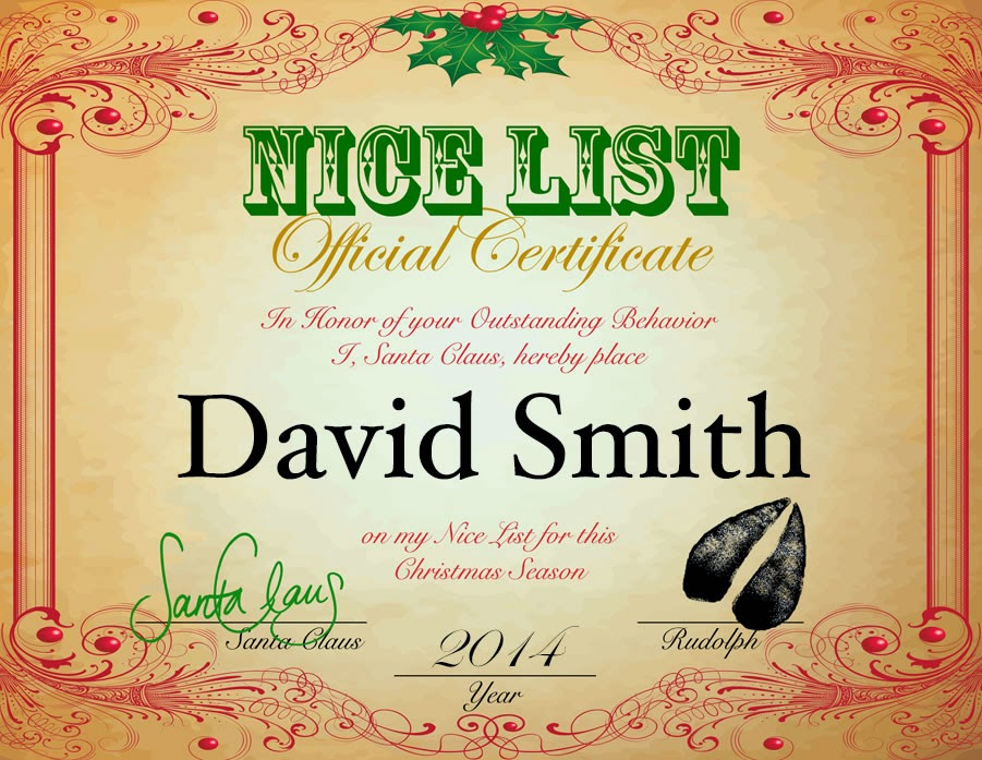Hanging off the wire naughty or nice letters from santa surprise your child with a personalized letter from santa a big shiny red envelope will arrive in the mailbox for your child containing a personalized spiritdancerdesigns Gallery