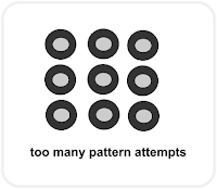 too many pattern attempts Android