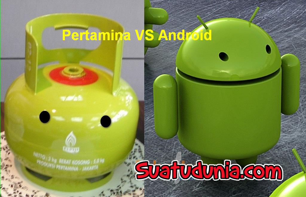 Anda sedang membaca artikel tentang Gambar Lucu : Pertamina VS Android ...