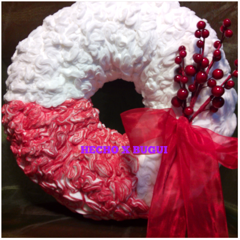 Hecho por bugui como hacer una corona de navidad diy - Como hacer adornos de navidad facil ...
