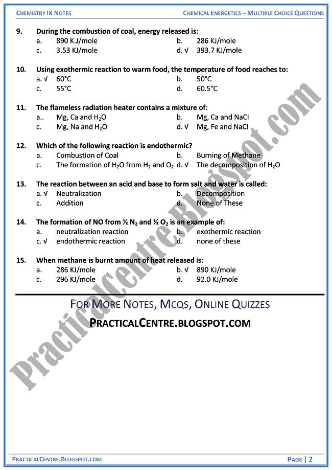 chemical-energetics-mcqs-chemistry-ix