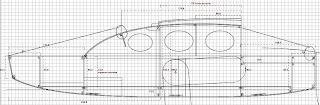 plan d'une mini gabare à voile carrée