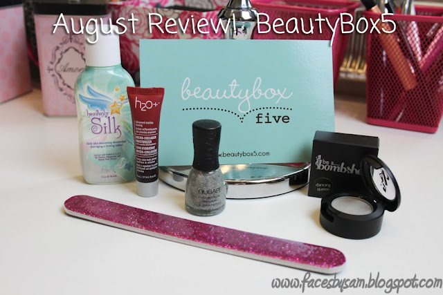 August 2013 BeautyBox5 Box Review