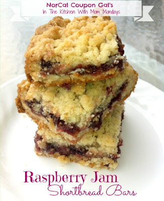 In The Kitchen With Mom Mondays – Raspberry Jam Shortbread Bars