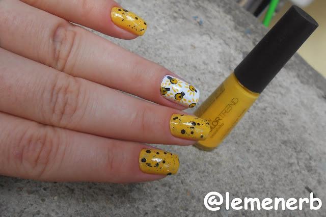 decoração com esmalte amarelo