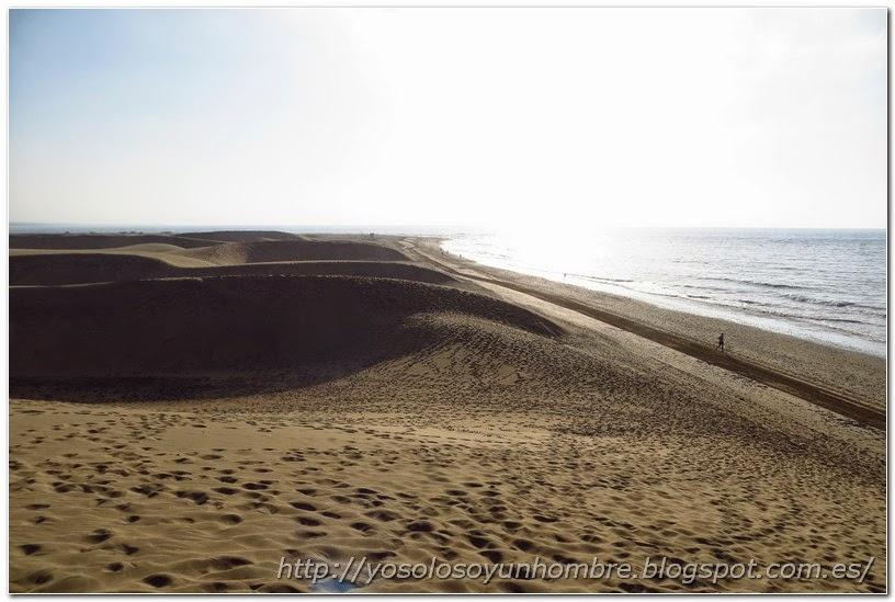 Otra vista de las dunas y el mar