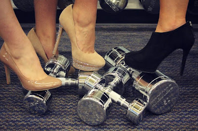 Classy high heels and iron weights harbor my perverse sexual lust