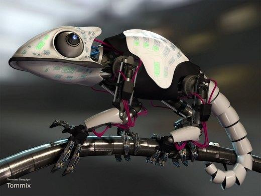 Mech chameleon por tommaso-sanguigni