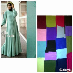 Gamis Jersey Umbrella Jasmine Dress | azzahidahcollections.com