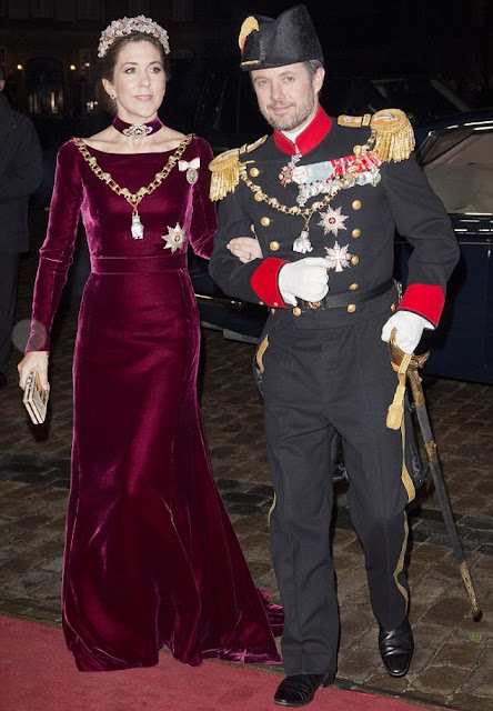 Aging gracefully: Princess Mary stunned in the dress in 2014, and has barely changed nearly two years later