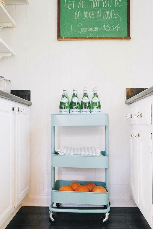 Carrito de cocina verde