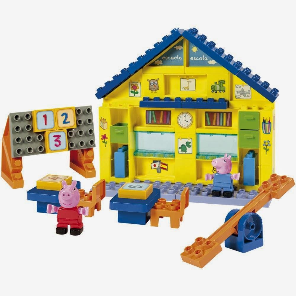 JUGUETES - PEPPA PIG  Escuela de Peppa y George | Juego de Construcción  Producto Oficial | Simba 4344545 | A partir de 3 años