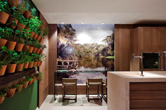 mini jardins verticais:Jardins verticais viram moda