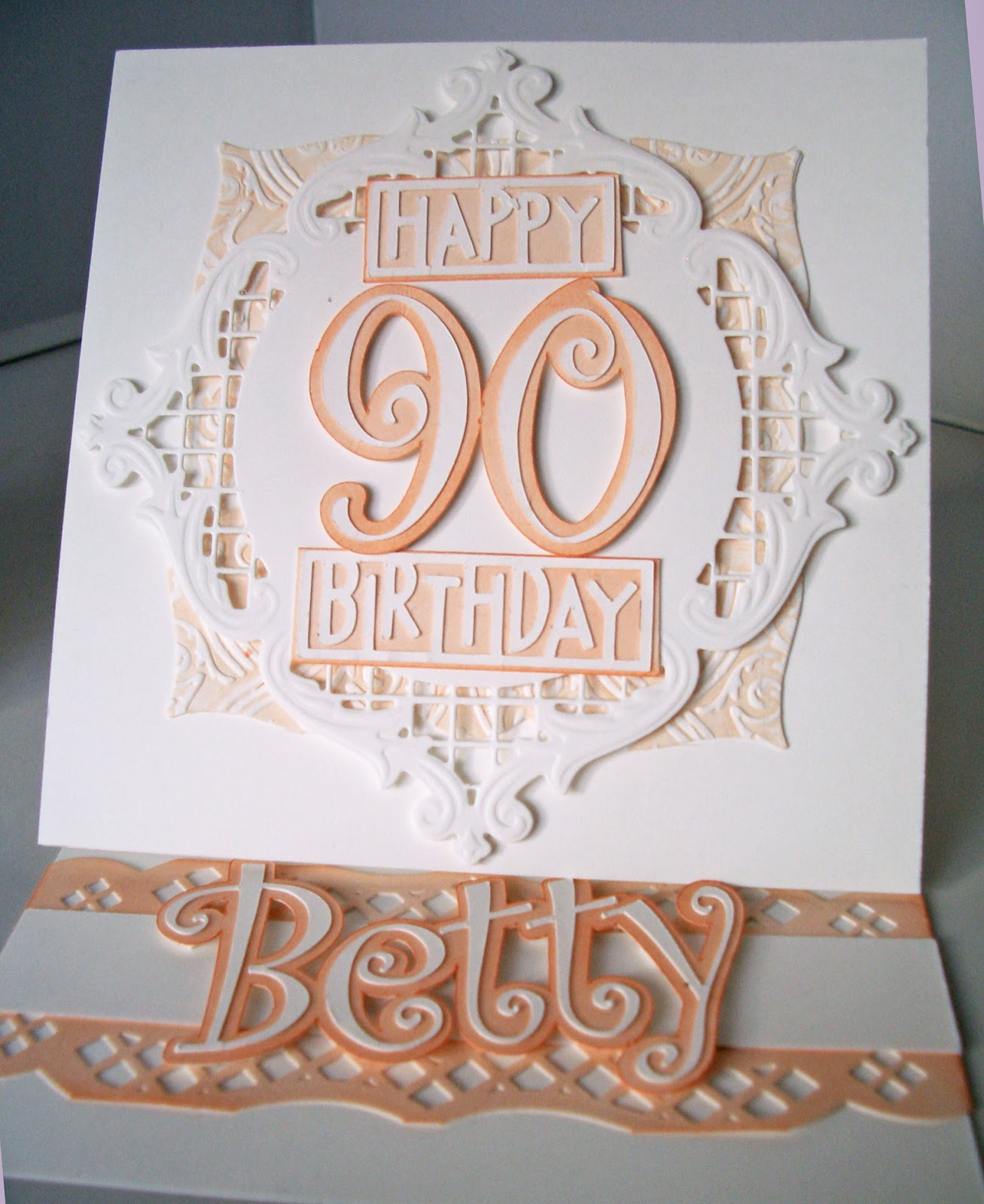 Julie 39 s inkspot 90th birthday card for 90th birthday decoration