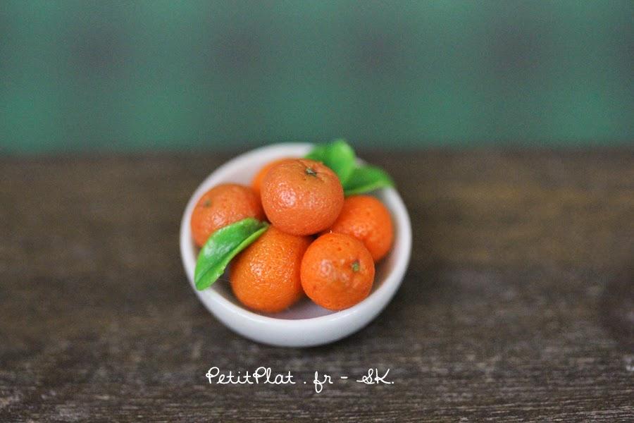 Miniature Clementines Bowl - Miniature Food Art by Stephanie Kilgast, PetitPlat
