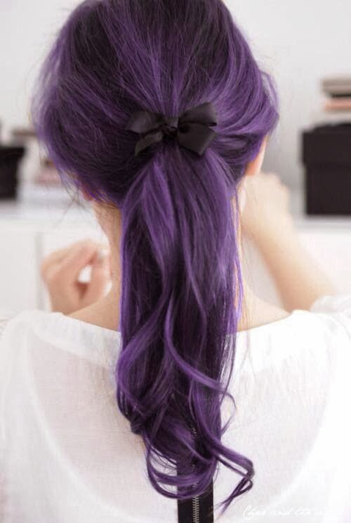 Lavender And Light Brown Ombre
